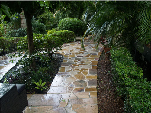 Inness Green Landscaping sandstone path paving