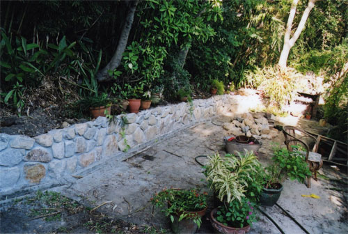 Inness Green Landscaping rock wall